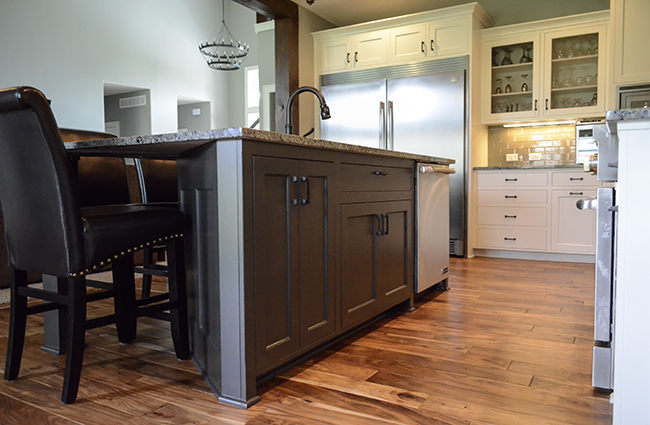 Transitional Kitchen in New Custom Home