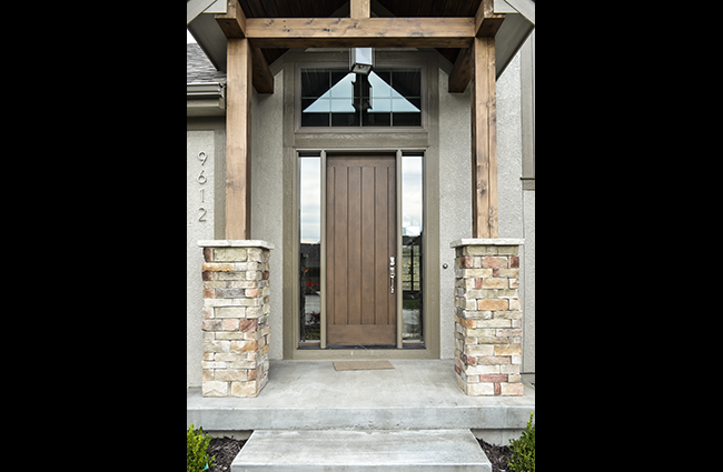 Transitional Entry of Custom Home