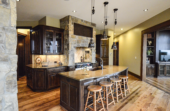 Rustic Kitchen in new custom home